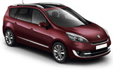 Renault Scenic car rental at Heathrow, UK